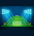 an of football soccer field with bright stadium vector image vector image