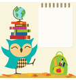 Back to school owl vector image vector image