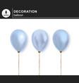 balloon set of decorative festive balloon vector image vector image