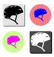 bicycle helmet flat icon vector image vector image