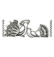 birds decorative ornament vector image