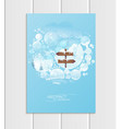 brochure a5 or a4 format design christmas template vector image