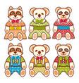 childrens animals ornament kid cute pet vector image vector image