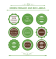 Collection Of Organic Labels And Icons vector image vector image