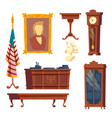 collection - white house oval office vector image vector image