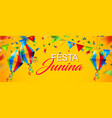 colorful festa junina background vector image vector image