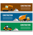 construction machine web banner concept vector image vector image
