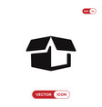 delivery package icon vector image vector image