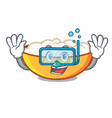 diving cottage cheese character cartoon vector image