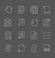 documents icons editable vector image vector image