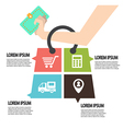 E-commerce infographic Template with bag Concept vector image vector image