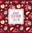 eco bar apple paper emblem vector image vector image