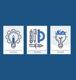education set of cards online vector image