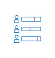 elections bar chart outline colored icon can be vector image vector image