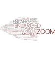enlarged word cloud concept vector image vector image