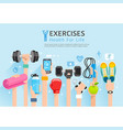 exercises conceptual design set of exercises vector image