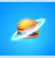 fast food planet for fast vector image