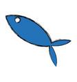 fish blue sketch vector image vector image