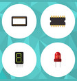 flat icon electronics set of mainframe display vector image vector image