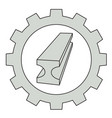 flat metal industry icon vector image