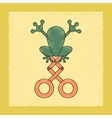 flat shading style icon Kids frog vector image vector image