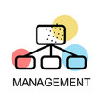 flow chart icon for management on white background vector image vector image