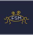 flying spaghetti monster - atheism satyr god vector image vector image