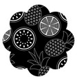 frame with fruits pattern vector image vector image