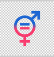 gender equal sign icon men and women equal vector image vector image