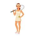 girl tennis player vector image vector image