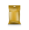 gold foil blank paper pillow snack pag package vector image
