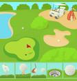 golf field concept cartoon style vector image