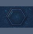 hexagon luxury background vector image vector image