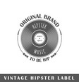 hipster label vector image