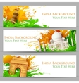 Indian Monument Banner vector image vector image