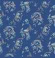 indigo blue abstract print texture pattern vector image
