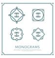 Letter I Monogram vector image vector image