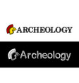 logo for archeology vector image vector image