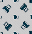 negative films icon symbol Seamless pattern with vector image vector image