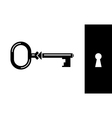 old classic key vector image