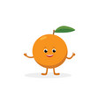 orange cartoon character isolated on white vector image vector image