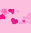 pink heart confetti vector image