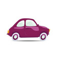 purple cartoon car vector image vector image