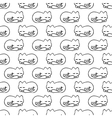 seamless pattern with dream cat vector image