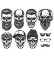 set different skull characters with different vector image