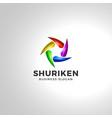 shuriken - star blade logo template vector image
