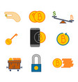simple bitcoin symbol graphic set vector image