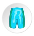 Sports shorts icon cartoon style vector image vector image