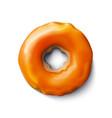 stock donut orange frosting vector image