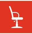 The barber chair icon Armchair symbol Flat vector image vector image
